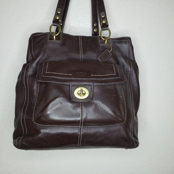015baa668b3f Coach Handbags - Coach Penelope Handbag Brown Leather F19264